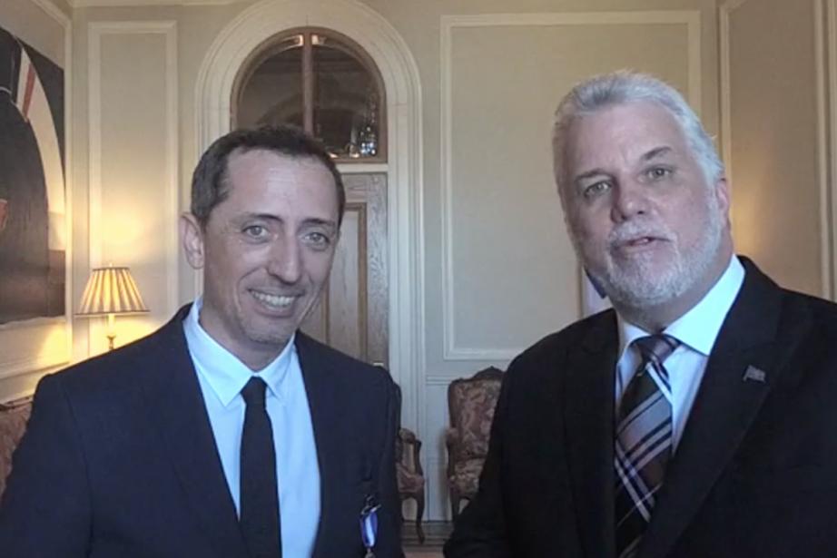 L'humoriste Gad Elmaleh et le premier ministre du... (CAPTURE D'ÉCRAN FACEBOOK)