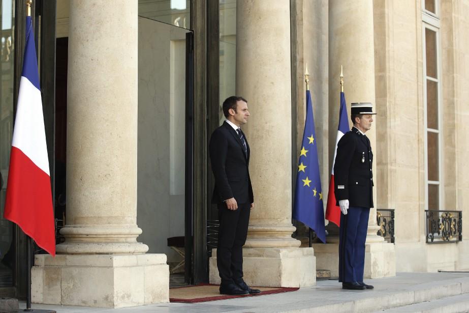 Le nouveau président français Emmanuel Macron.... (Photo AP)