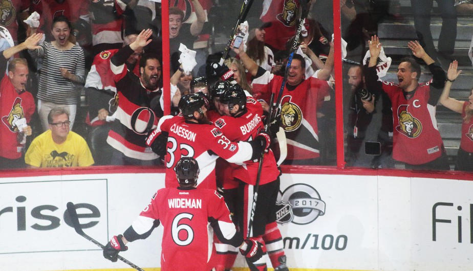 Mike Hoffman a marqué le premier but du match.... | 2017-05-17 00:00:00.000