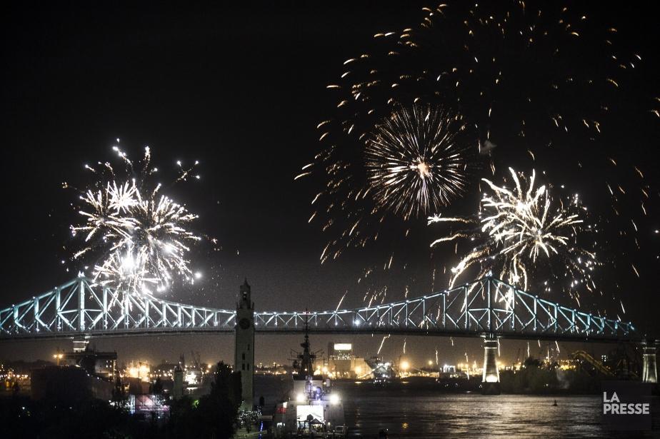 Le pont Jacques-Cartier brillait de tous ses feux... (Photo Olivier Pontbriand, archives La Presse)