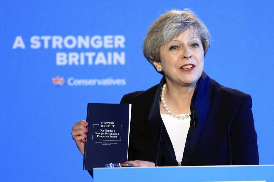 Theresa May... (Photo Danny Lawson, PA via AP)