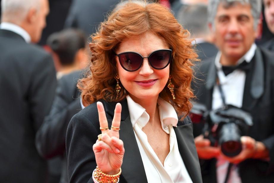 Susan Sarandon arrive à la présentation du film  Loveless ( Nelyubov ). | 18 mai 2017