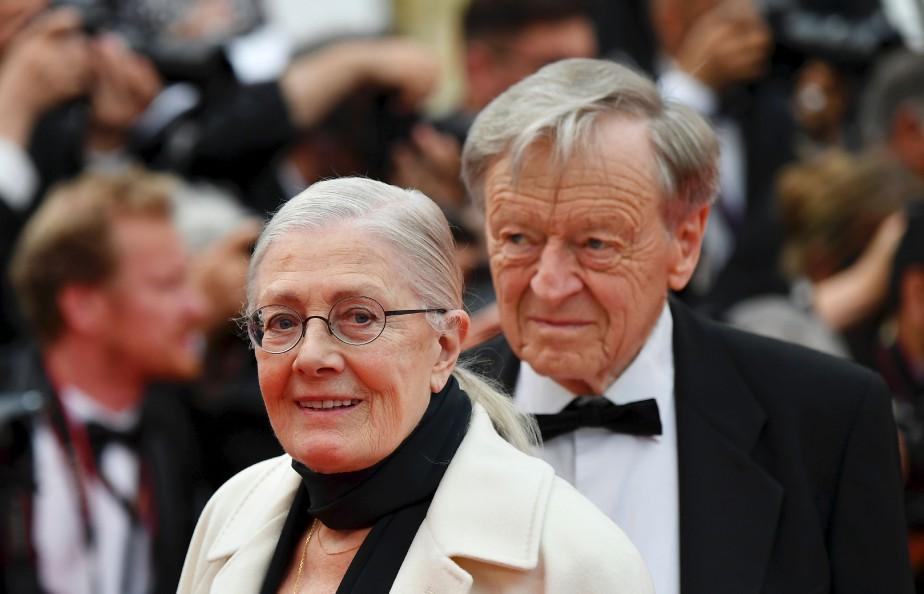 L'actrice Vanessa Redgrave et l'ancien homme politique Alf Dubs présentaient mercredi soir à Cannes le film sur les migrants  Sea Sorrow . | 18 mai 2017