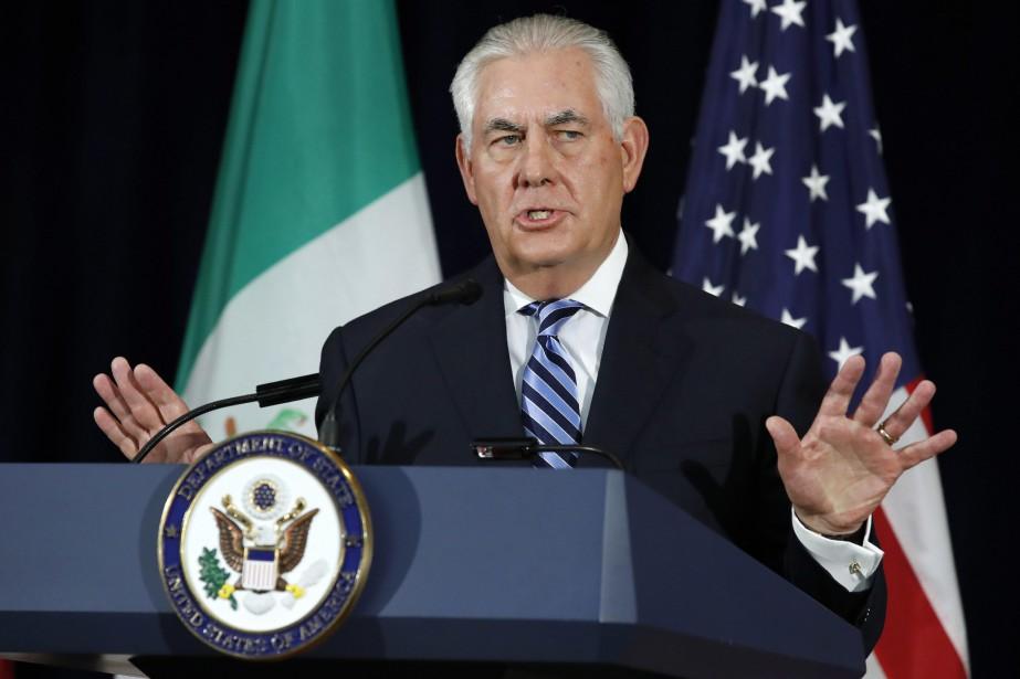 Rex Tillerson a livré une conférence de presse... (PHOTO AP)