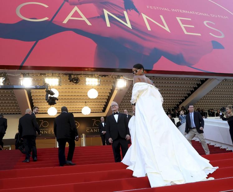 La chanteuse Rihanna a fait une entrée remarquée. | 19 mai 2017