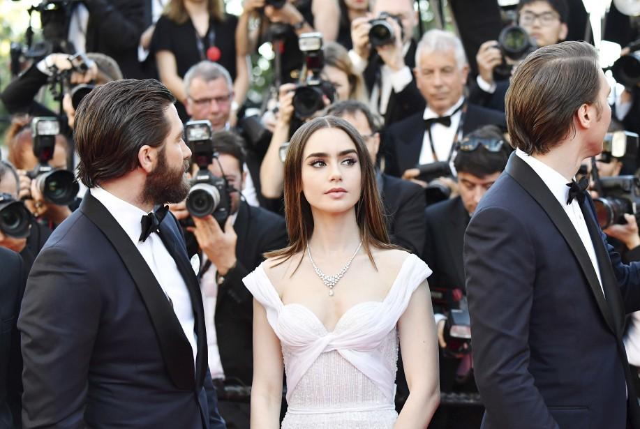 L'équipe du film Okja: Jake Gyllenhaal, Lily Collins et Paul Dano | 19 mai 2017