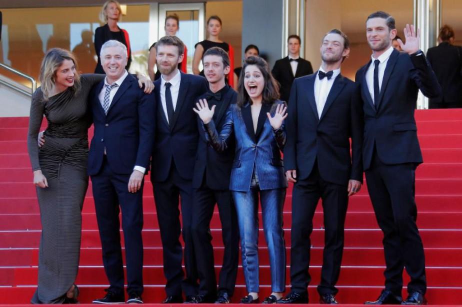L'équipe du film 120battements par minutelors de la... (photoRegis Duvignau, reuters)