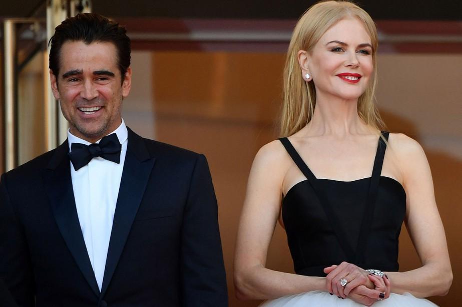 Colin Farrell et Nicole Kidman avant la projection... (AFP)