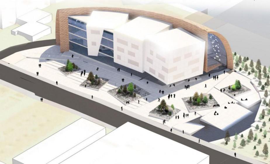 Le concept préliminaire du nouvel Institut nordique du... (Image fournie par l'Université Laval)
