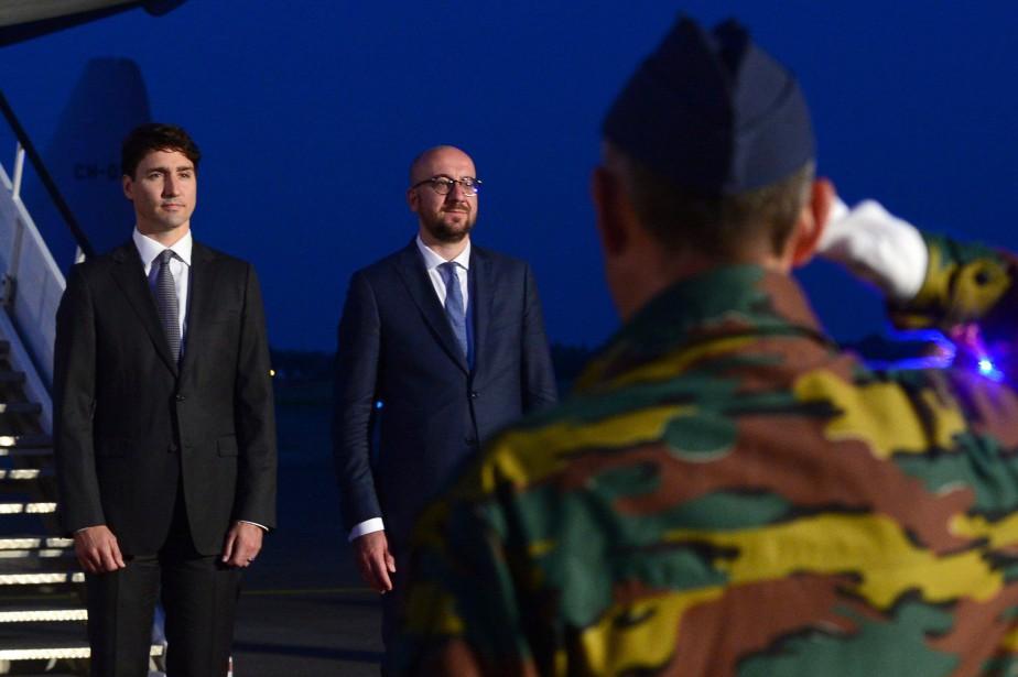 Le premier ministre Justin Trudeau à son arrivée... (PHOTO PC)