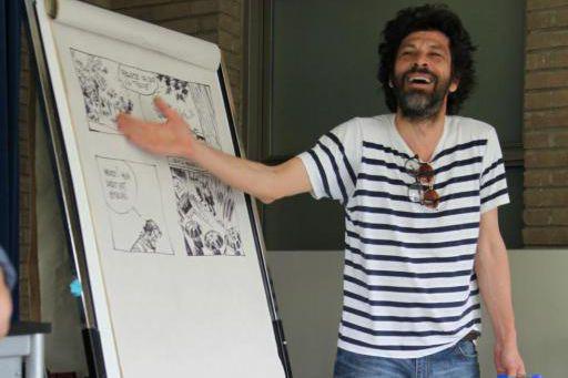 Bruno Rouyère lors d'un atelier duFestival BD de... (Photo fournie par le Festival de la BD de Montréal)