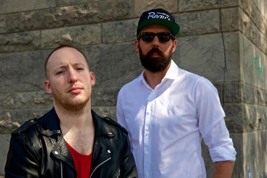 Les rappeurs Lary Kidd (Loud Lary Ajust) et... (Photo André Pichette, La Presse)
