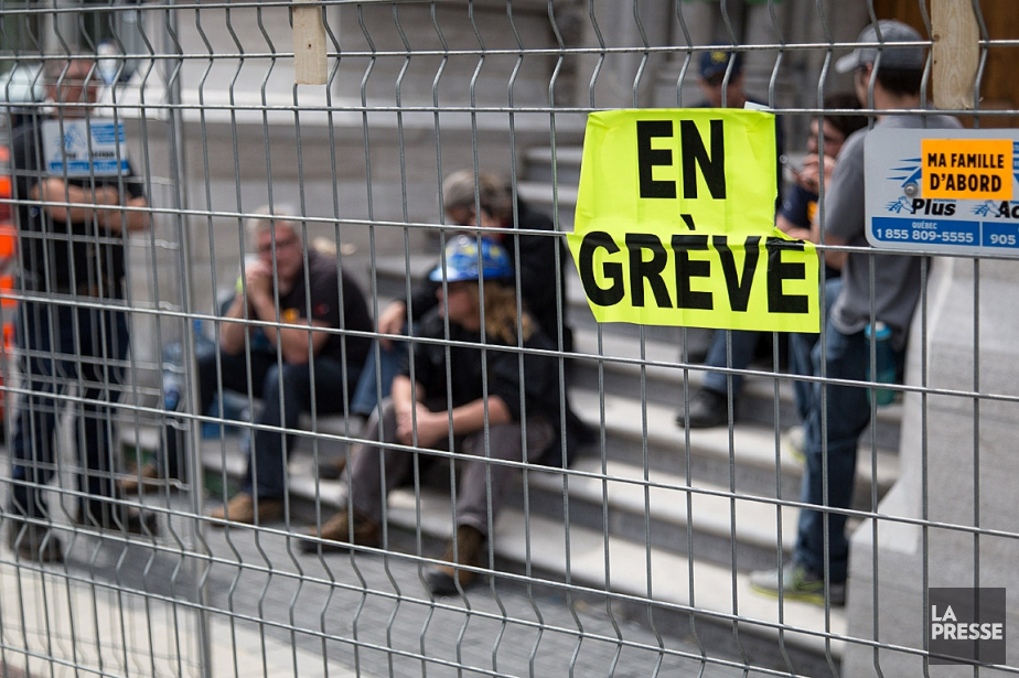 La grève des 175000 ouvriers de la construction... (PHOTO: ARCHIVES LA PRESSE)