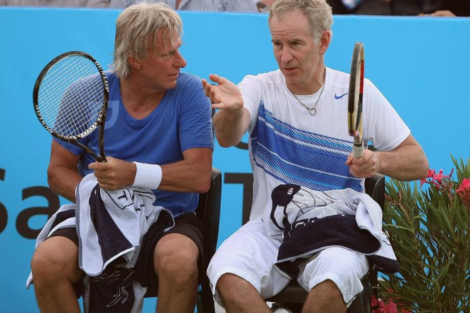 BjörnBorg et John McEnroe lors d'un match à... (PHOTO ARCHIVES AP)