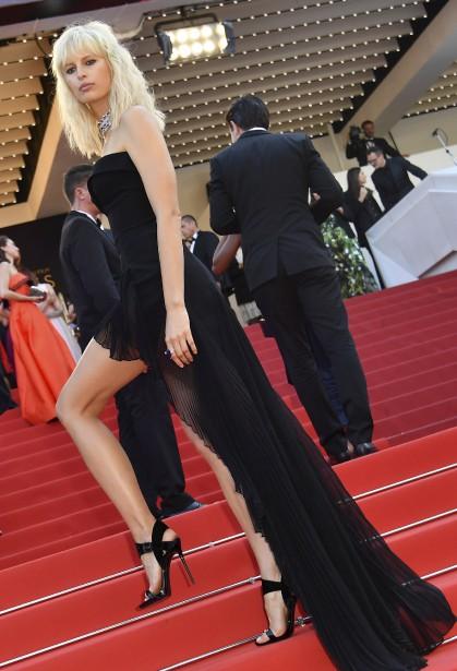 L'actrice et mannequin tchèque Karolina Kurkova a assisté à la première mondiale (hors compétition) du film D'après une histoire vraie. | 27 mai 2017