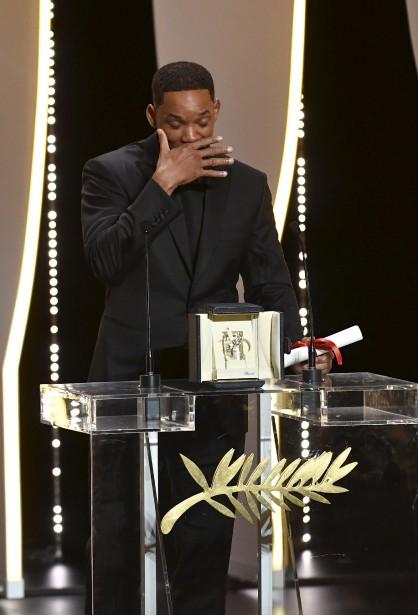 L'acteur Will Smith a livré un discours au nom de Nicola Kidman, qui était absente pour recevoir le prix spécial du 70e anniversaire du Festival de Cannes. | 28 mai 2017