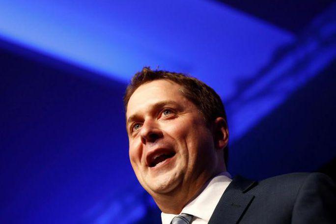 Andrew Scheer est le nouveau chef duParti conservateur... (PHOTO REUTERS)