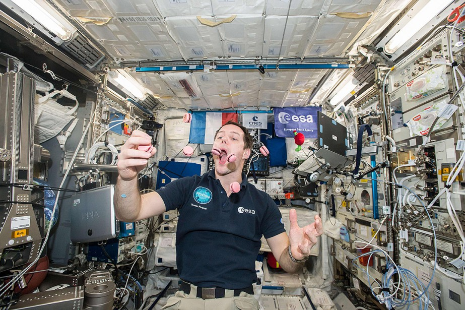 Sur cette photo de février dernier, Thomas Pesquet... (NASA)