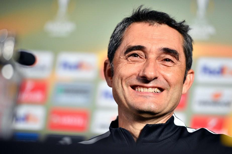 Ernesto Valverde... (Photo YORICK JANSENS, archives AFP)