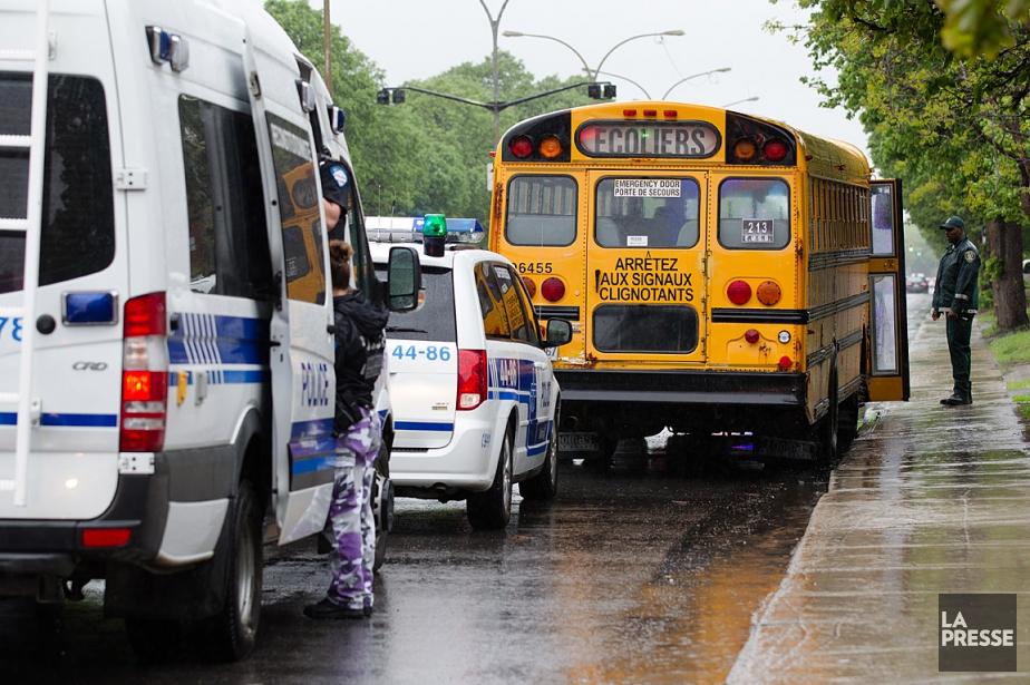 L'accident s'est produit à l'angle de la rue... (PHOTO NINON PEDNAULT, LA PRESSE)
