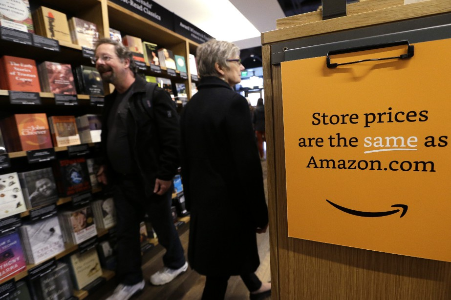 Customers shop at the opening day for Amazon... (AP)