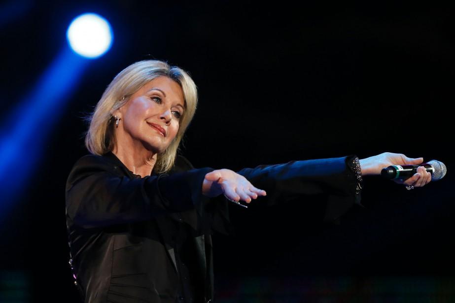 Olivia Newton-John avait été diagnostiquée d'un cancer du... (PHOTO ARCHIVES AFP)