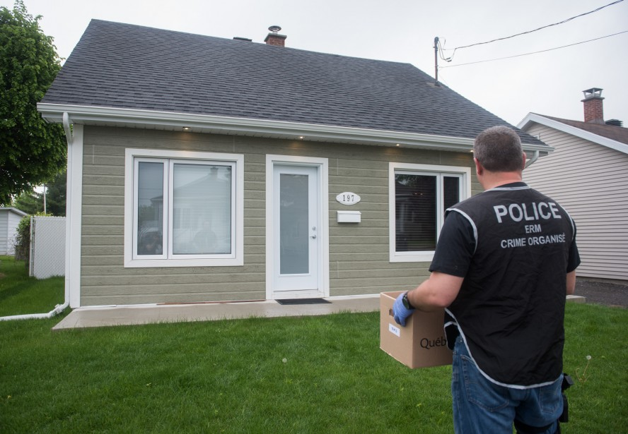L'une des perquisitions policières a eu lieu dans cette maison de la rue Brunelle à Trois-Rivières. | 31 mai 2017