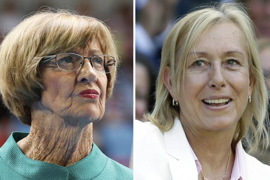 Margaret Court et Martina Navratilova... (Photos archives AP)