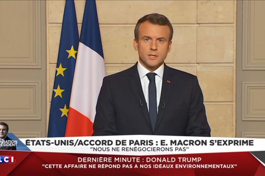 Emmanuel Macron a affirmé lors d'une allocution télévisée... (PHOTO AFP)
