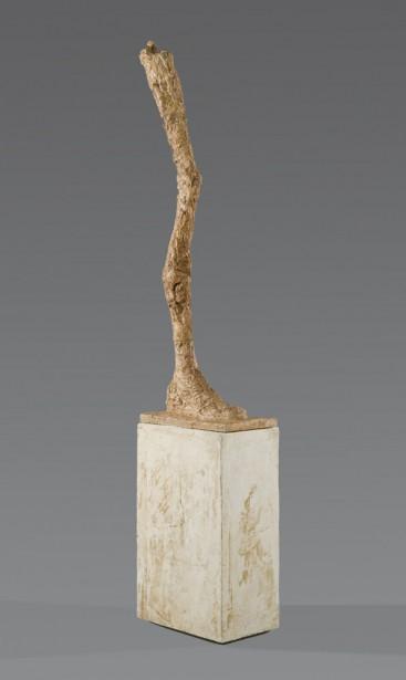 Alberto Giacometti,  La Jambe , 1958. Plâtre, 223 x 30,3 x 46,1 cm   1 juin 2017