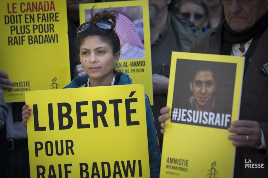 L'épouse de M. Badawi, Ensaf Haidar, est réfugiée... (PHOTO OLIVIER PONTBRIAND, ARCHIVES LA PRESSE)