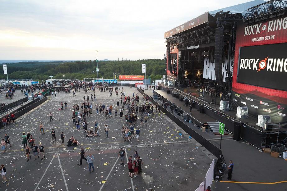 Le festival Rock am Ring a été évacué,... (PHOTO Thomas Frey, AFP)