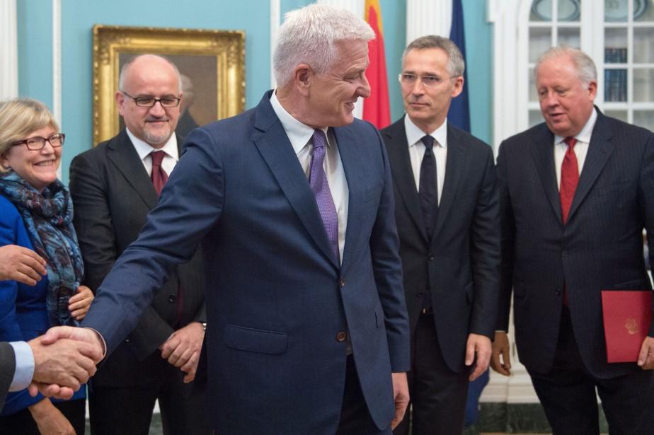 À Washington, le premier ministre du Monténégro Dusko... (PHOTO AFP)