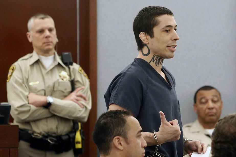 Jonathan Koppenhaver en cour à Las Vegas, lundi.... (PHOTO AP)