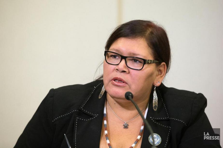 Viviane Michel, présidente de Femmes autochtones du Québec... (Archives La Presse, Robert Skinner)