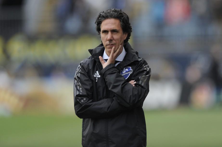L'entraîneur-chef de l'Impact, Mauro Biello.... (Photo Michael Perez, archives AP)