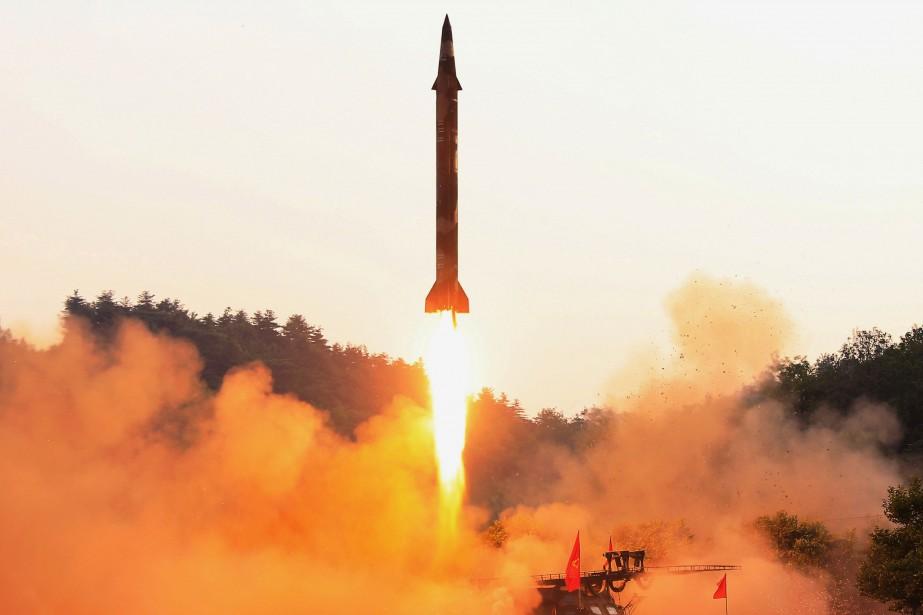 Lancement d'un missile nord-coréen le 30 mai.... (PHOTO ARCHIVES REUTERS)