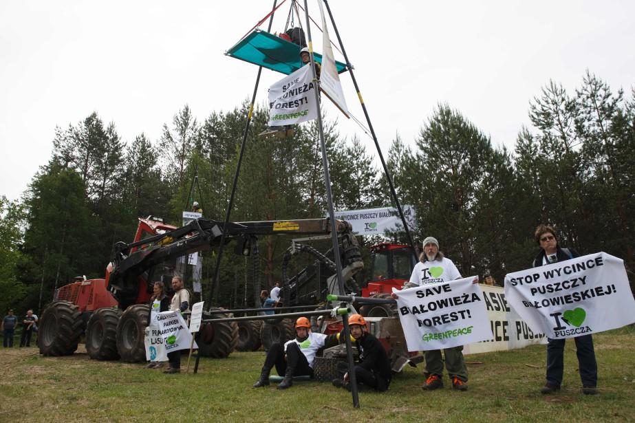 La nouvelle action des écologistes a pour but... (Photo Krystian MAJ, Agence France-Presse)
