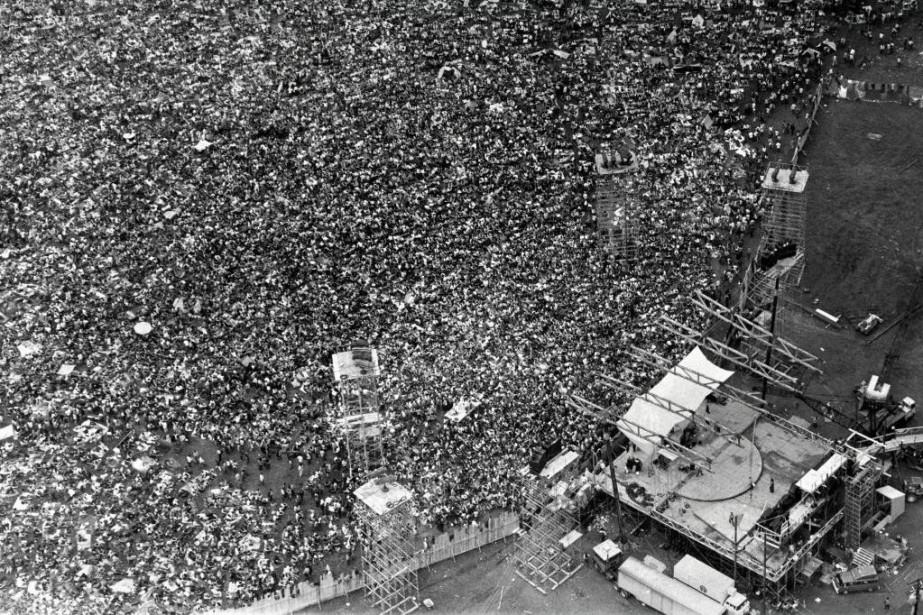 Quelque 400000fans s'étaient rassemblés dans la ferme laitière... (photoJack Manning, archives The New York Times)