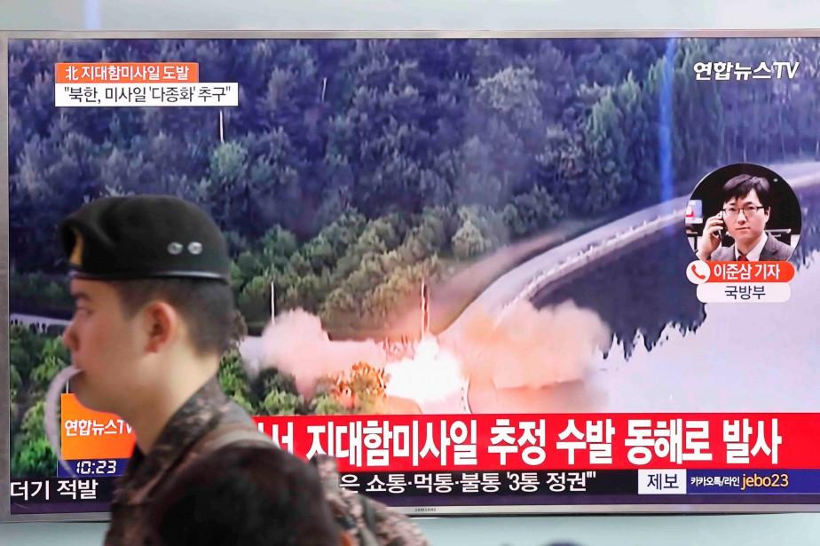 Pyongyang a procédé à des dizaines de tirs... (PHOTO REUTERS)