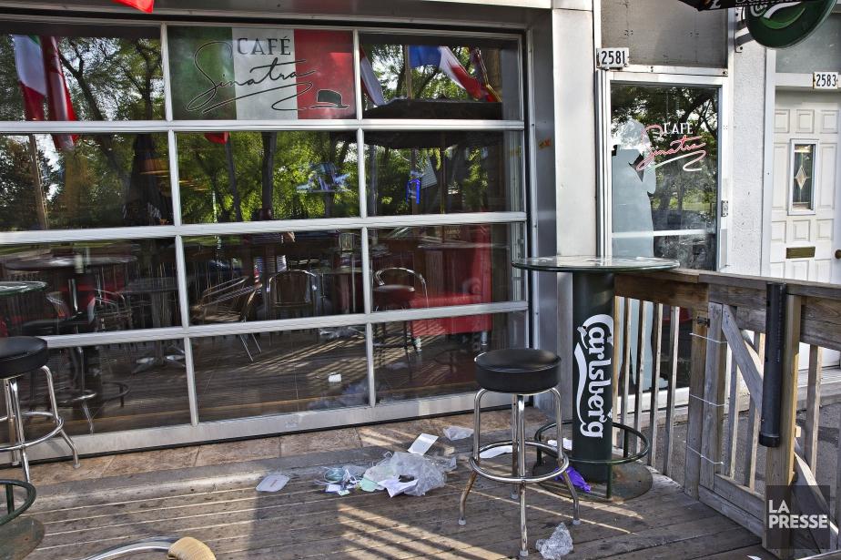 Angelo D'Onofrio a été abattu mortellement au café... (PHOTO PATRICK SANFACON, LA PRESSE)