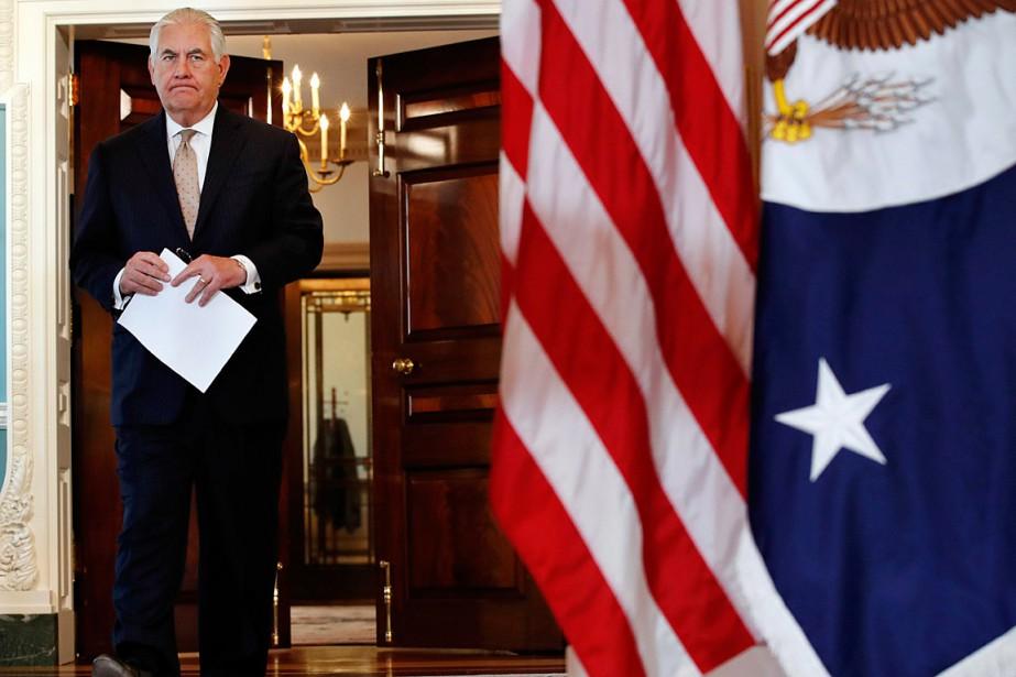 Le secrétaire d'ÉtatRex Tillerson... (PHOTO JACQUELYN MARTIN, ASSOCIATED PRESS)