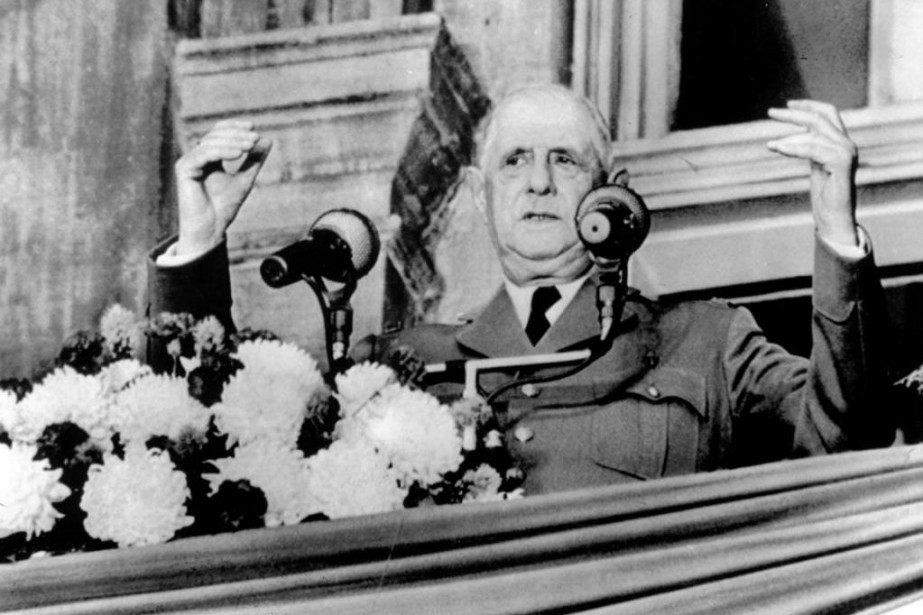 Le 24juillet1967, à 19h42, le président français Charles... (Photo Archives La Presse)
