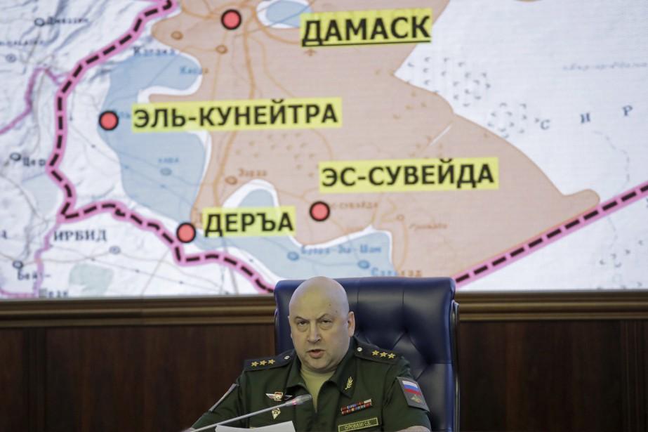 Le commandant des forces russes en Syrie,Sergei Surovikin... (Photo Pavel Golovkin, AP)