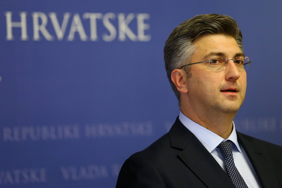 Le premier ministre croate Andrej Plenkovic... (PHOTO Antonio Bronic, ARCHIVES REUTERS)