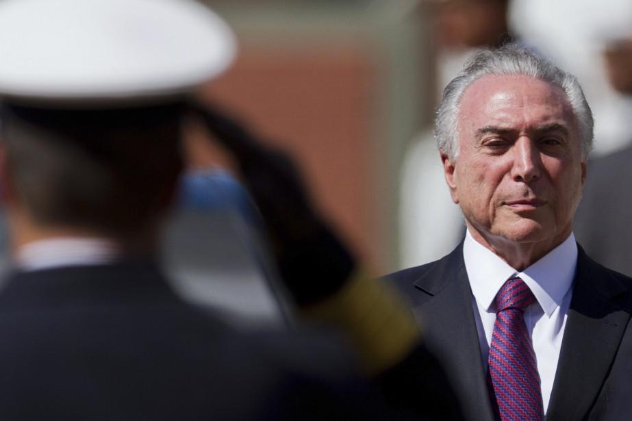 Le président brésilien Michel Temer... (Photo Eraldo Peres, AP)