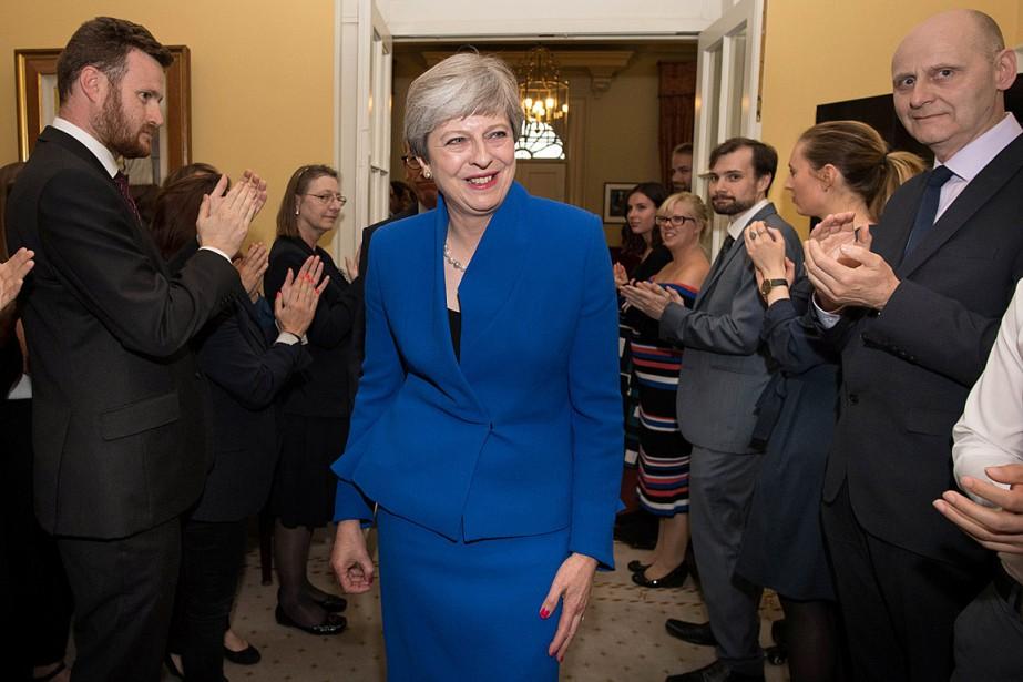 Le première ministre britannique Theresa May a reçu... (Photo Stefan Rousseau, REUTERS)