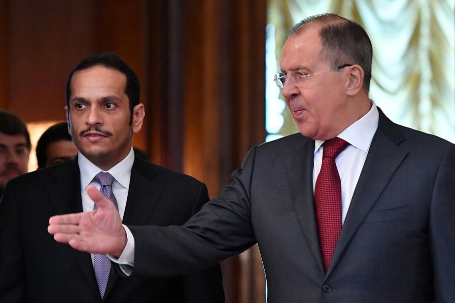 Le ministre russe des Affaires étrangères Sergueï Lavrov... (PHOTO Yuri KADOBNOV, AGENCE FRANCE-PRESSE)