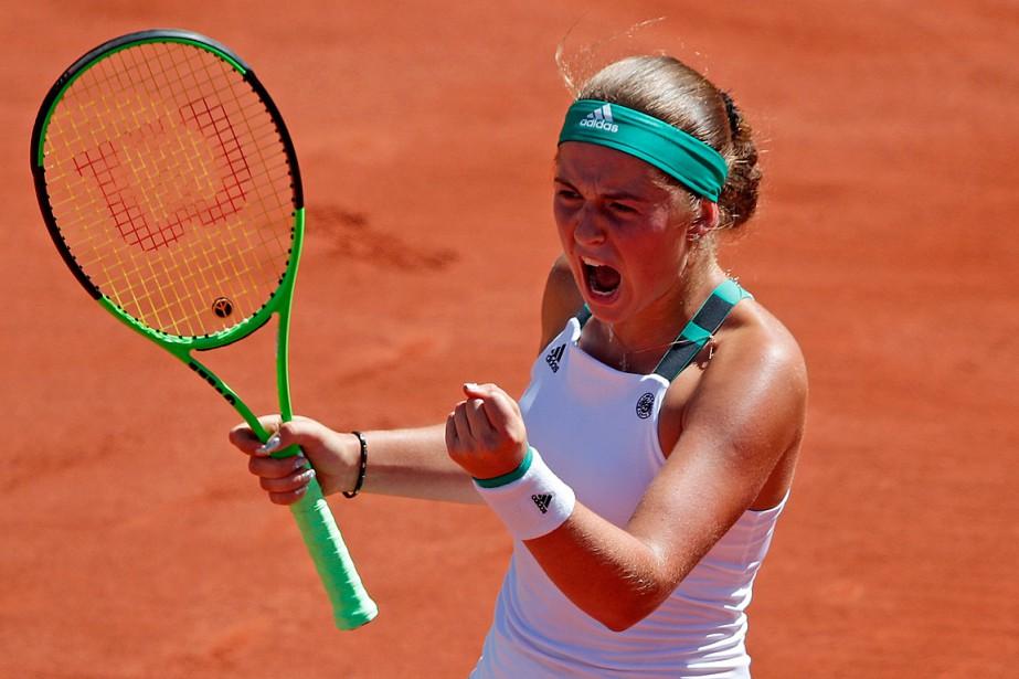 Jelena Ostapenko... (Photo Christophe Ena, Associated Press)
