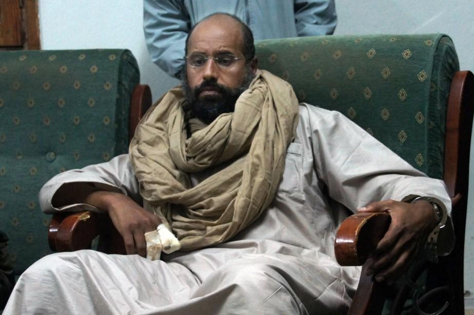Seif al-Islam est le fils cadet du dictateur... (Photo Ammar El-Darwish, archives AP)